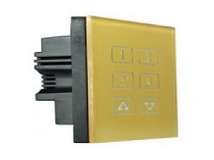电容触摸按键,可编程按键功能,单-开,单-关,单-开/关,组合开,组合关,组合开/关,点动。实现触发场景,调亮/暗回路,广播场景,广播回路,窗帘,使能/禁止定时器、感应器等功能。