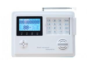 GSM报警器为GSM与电话线结合双网报警系统。它具有语音提示功能、中文短信息显示,无线对码学习探测器,可以控制家电、短信识别、联网输出、监听等强大功能。无线连接红外、门磁等多种编码的探测器。